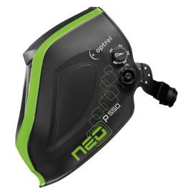 Helmet shell - black green, p550